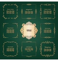 Luxury golden frames set vector