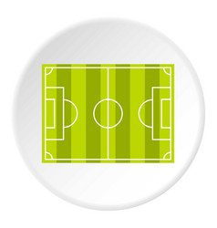 soccer field or football grass field icon circle vector image vector image