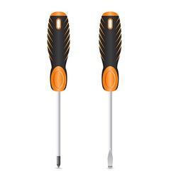 tool screwdriver 03 vector image vector image