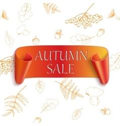 Autumn sale sticker vector