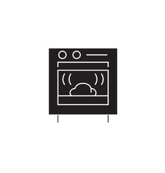 baking bread black concept icon baking vector image