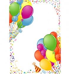 birthday frame vector image
