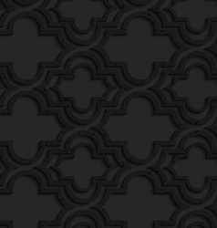 Black textured plastic marrakech with offset vector