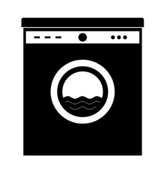 black washing machine this is icon vector image