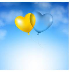 blue sky and balloons vector image