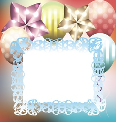 Bright multicolored card template for birthday vector image