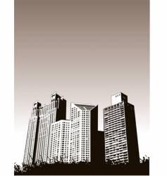 Buildingsgrass vector