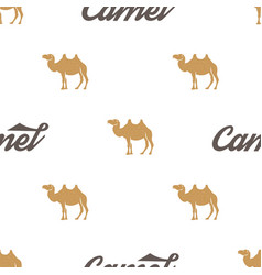 Camel pattern seamless background vector