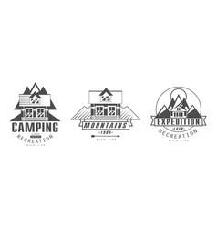 camping recreation premium logo design templates vector image