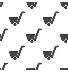 cart seamless pattern vector image