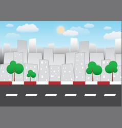 cartoon city background vector image