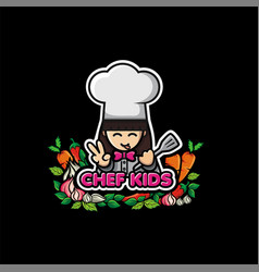 chef kids premium vector image