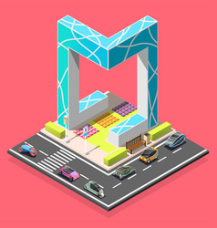 City constructor isometric element vector