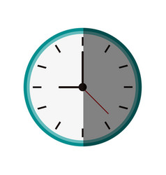 Clock flat shadow vector