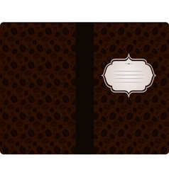 Coffee vintage cover design template vector image