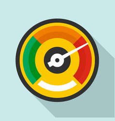 colorful dashboard icon flat style vector image