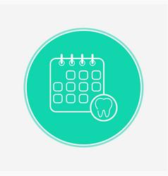 dentist schedule icon sign symbol vector image