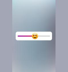 Emoticon slider template feedback poll social vector