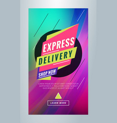 Express delivery editable templates for social vector