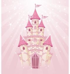 fairy tale princess castle vector image