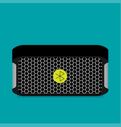 flat bluetooth speakers vector image