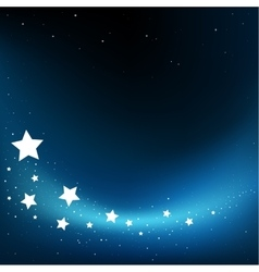Fly stars background vector