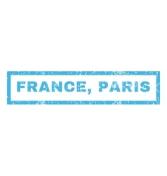 France Paris Rubber Stamp vector