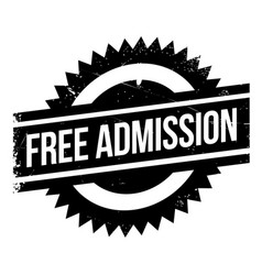 free admission rubber stamp vector image