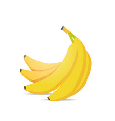fresh juicy bananas icon tasty ripe fruits vector image