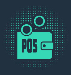 Green prostake icon isolated on blue vector