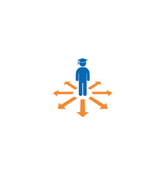 Guidance symbol student with cap icon vector