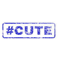 Hashtag cute rubber stamp vector