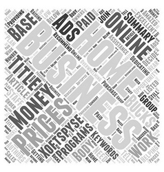 Home of bucks an Ads Word Cloud Concept vector