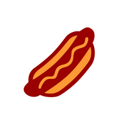 hot dog curvy simple icon design vector image