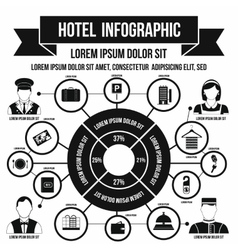 Hotel infographic simple style vector image
