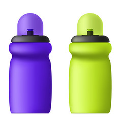 image of sports bottles for liquids volumetric vector image