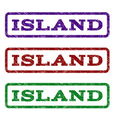 Island watermark stamp vector