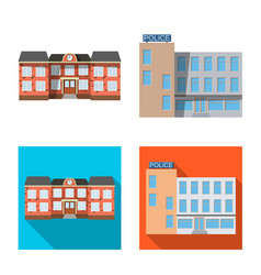 isolated object of building and front symbol vector image