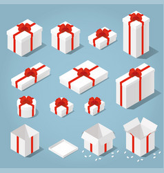 isometric gift boxes set vector image