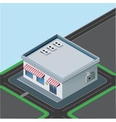 isometric little shop vector image