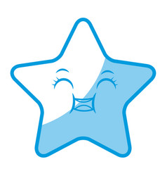 kawaii cute star caricature facial expression vector image