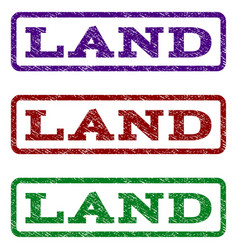 land watermark stamp vector image