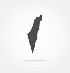 map israel vector image