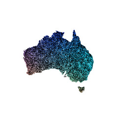 map of australia with a blue texture vector image