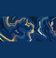 Marble blue abstract background liquid indigo vector