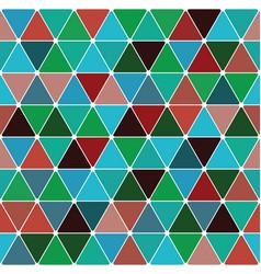 mardi gras triangle pattern vector image