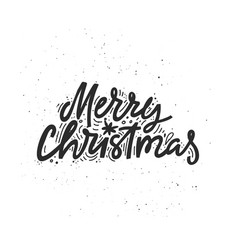 Merry christmas handdrawn lettering vector