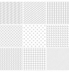 Monochrome geometric patterns vector