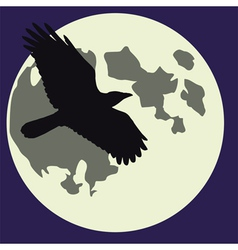moon black raven vector image