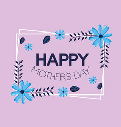 mothers day flowers vector image